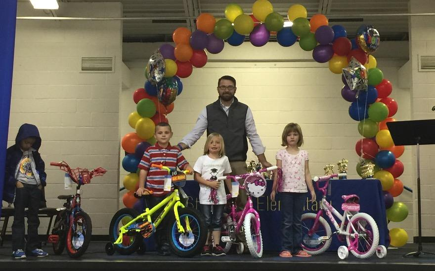 Hometown Donates Bicycles