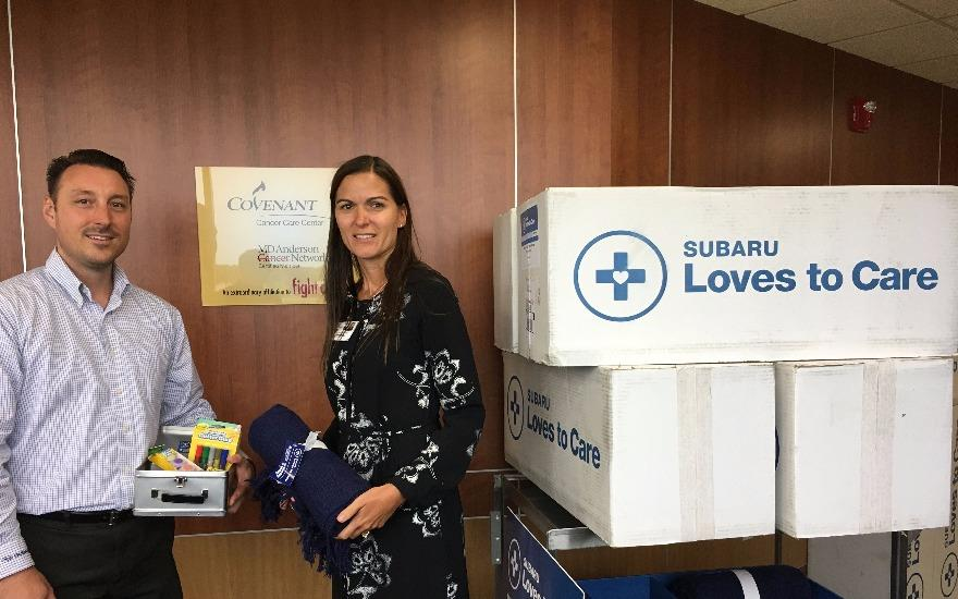 Delivery of Blankets to Covenant Cancer Center
