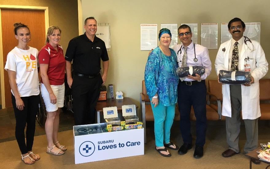 Blanket Delivery to Blood Cancer Patients