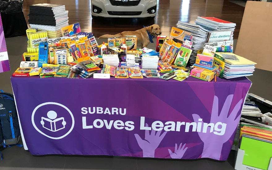 Subaru Pacific School Supply Drive