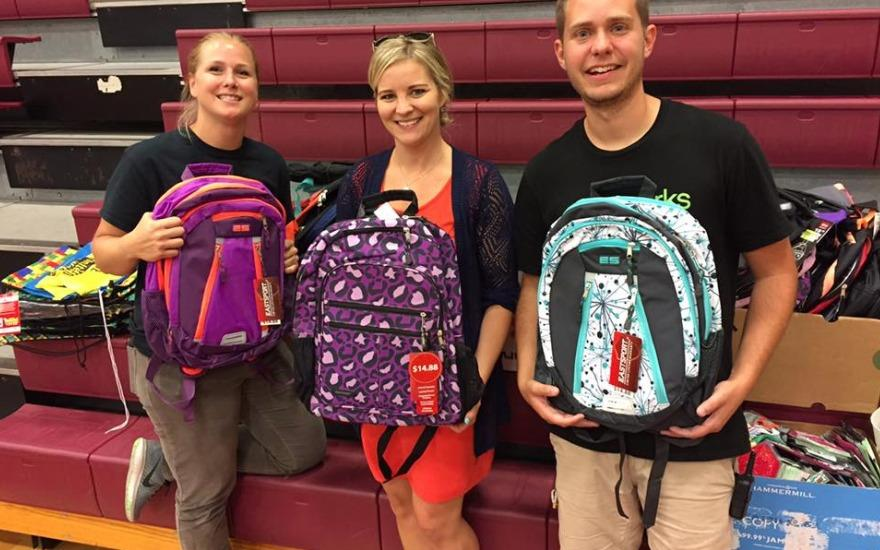 Back-to-school supplies to Youth in Need