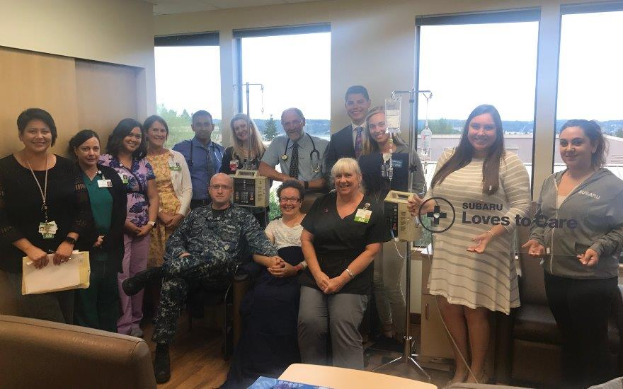 Peninsula Subaru Delivers Blankets to Patients