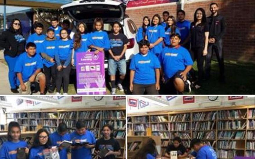 Book Donation to De Anza Middle School - Sept 2017