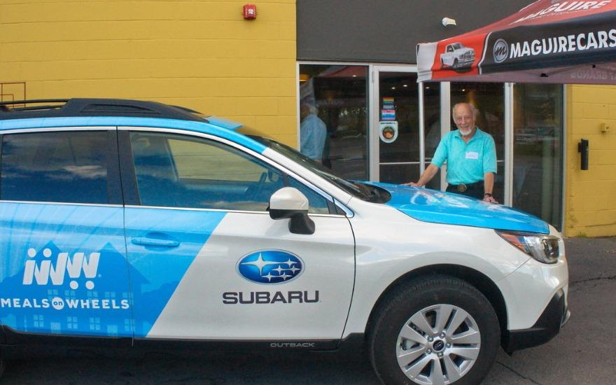 Foodnet Celebrates Donated 2018 Subaru Outback!