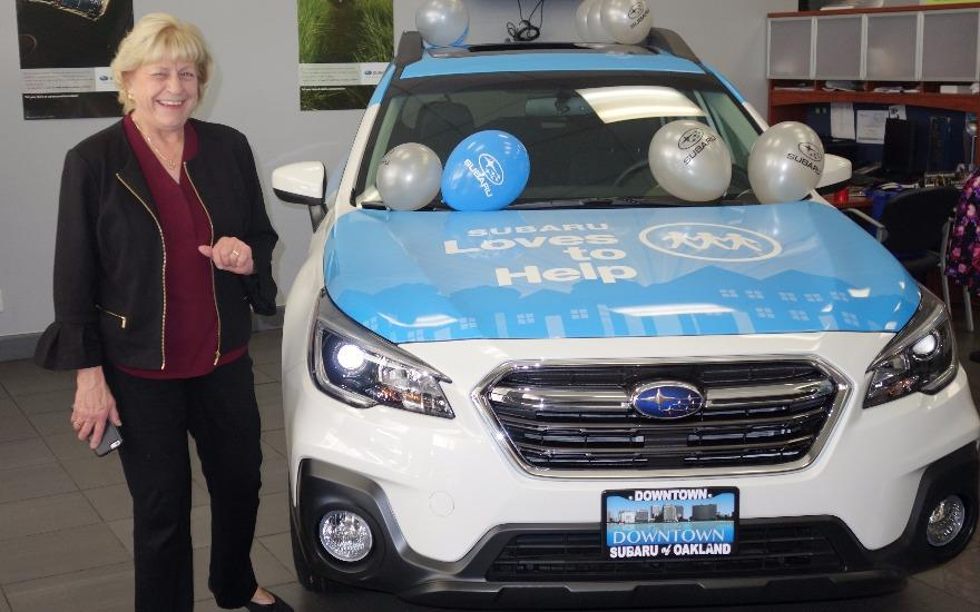 Our beautiful 2018 Subaru Outback makes us smile!