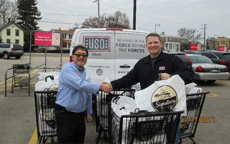 Thanksgiving Meals Donated to The USO of Illinois