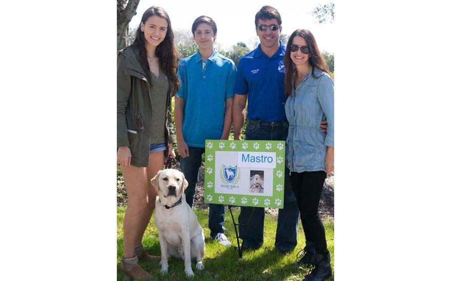 Mastro Subaru's sponsored veteran service dog