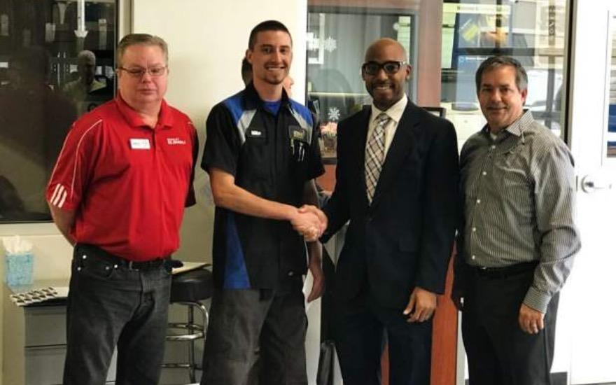GREELEY SUBARU TECH RECEIVES SCHOLARSHIP