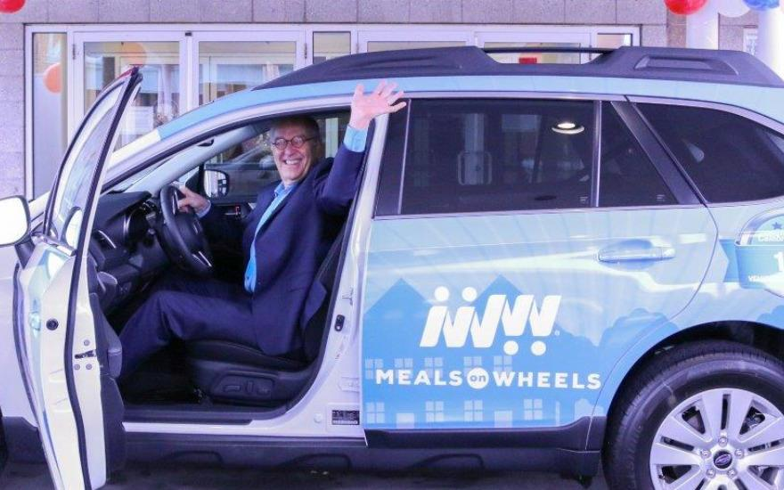 Unveiling the 2018 Subaru-Meals on Wheels Outback