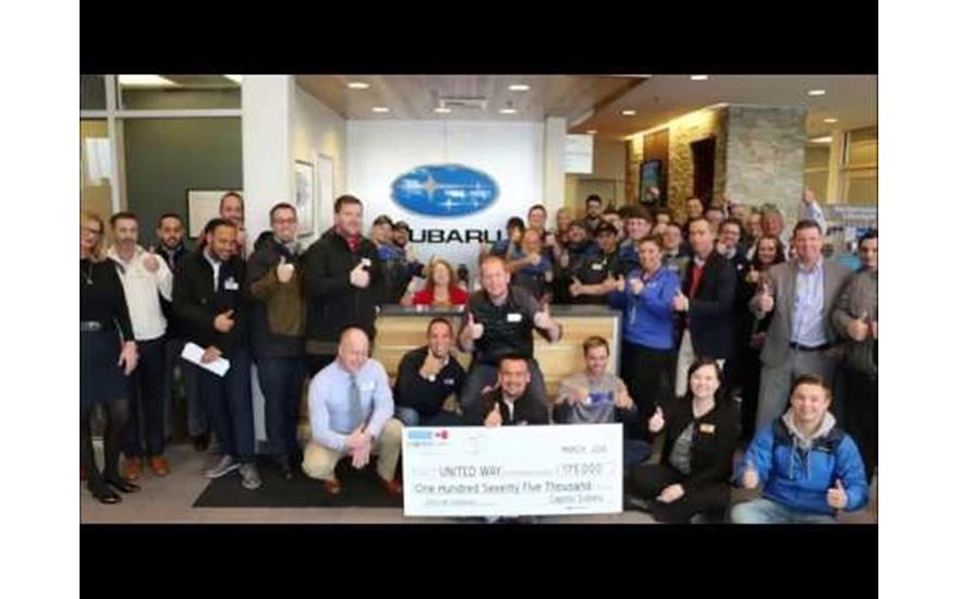 Capitol Subaru Gives $175,000 to local United Way