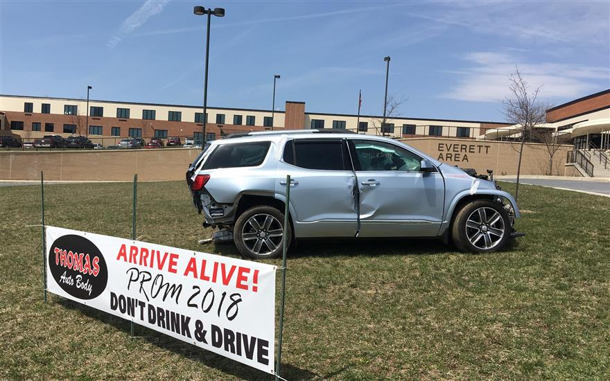 Arive Alive!  Don't Drink & Drive!  Prom 2018