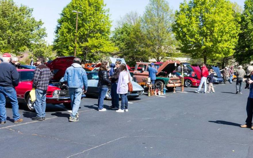 Landers McLarty Support to Asbury Car Show