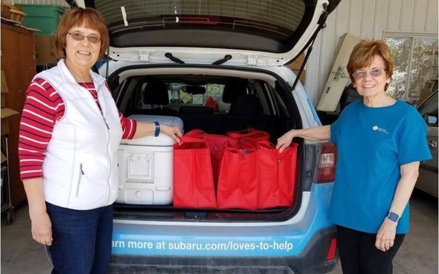Collaborating to feed seniors with a Subaru!