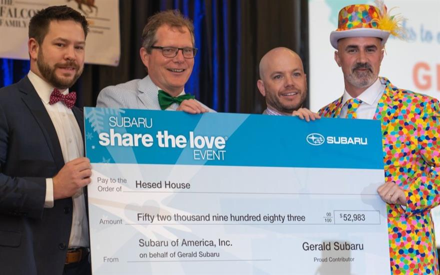 Gerald Subaru fights to end homelessness!