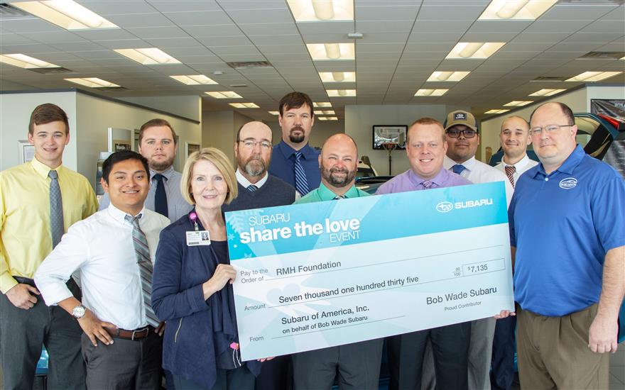 Bob Wade Subaru Cares About Community's Health