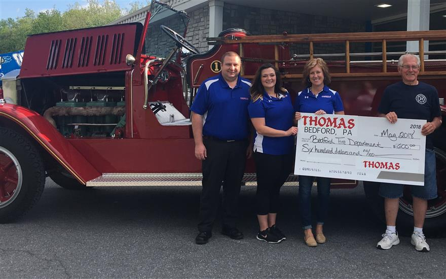 Employees Raise Money for the Bedford Fire Dept.