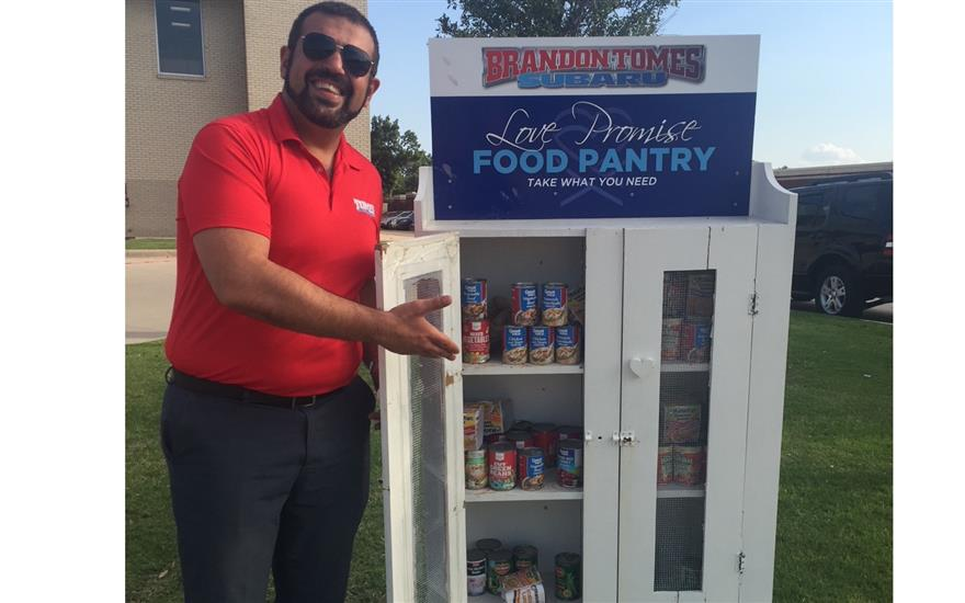 Free Food Pantry At A Car Dealership??