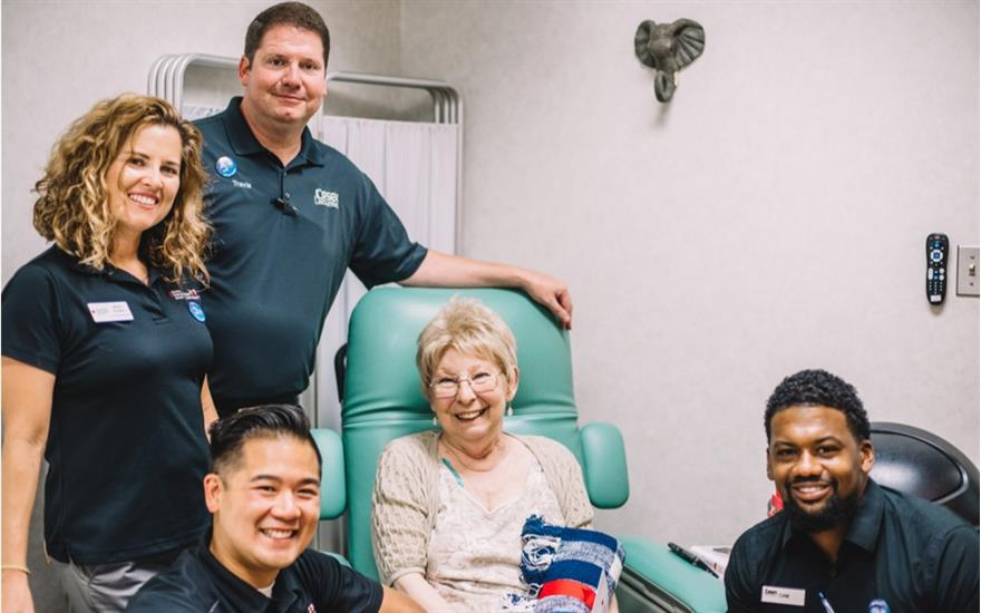 Casey Subaru Visits Riverside Cancer Care Center