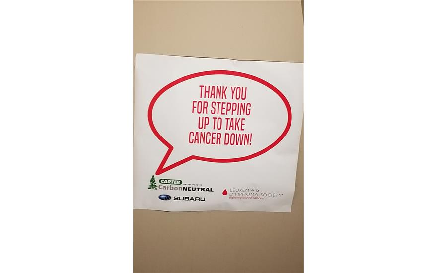 Carter Subaru Loves to Care for Cancer Patients