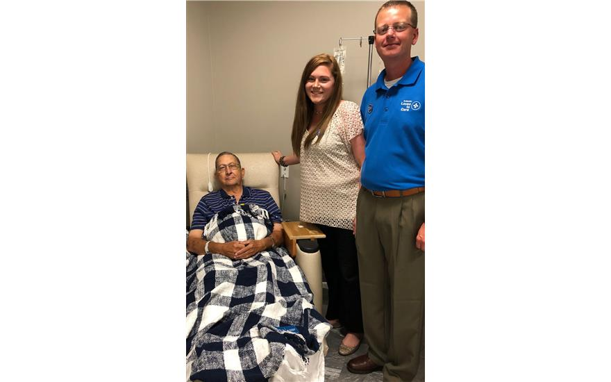 Blankets delivered to cancer patients