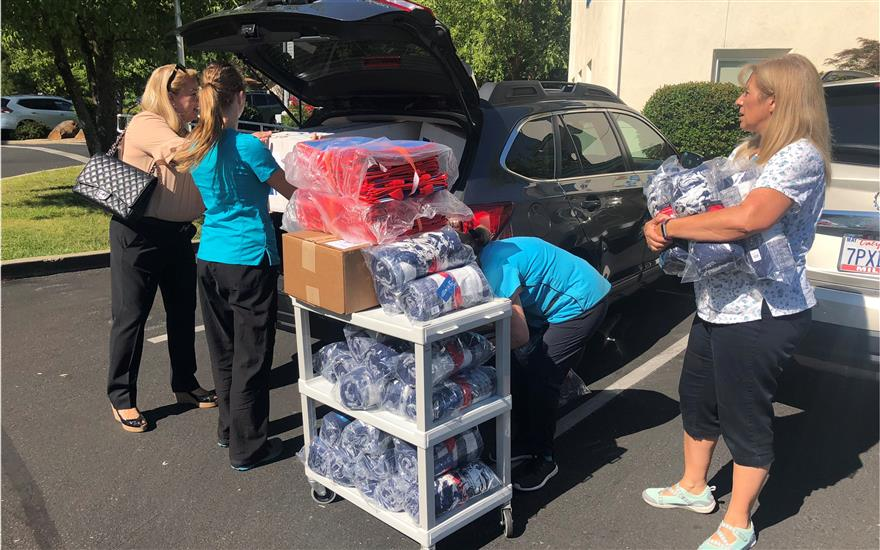 Blankets, Craft Kits Donated to Feather River