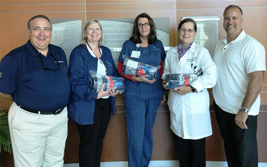 Belknap Subaru Donates Blankets to LRGH Patients