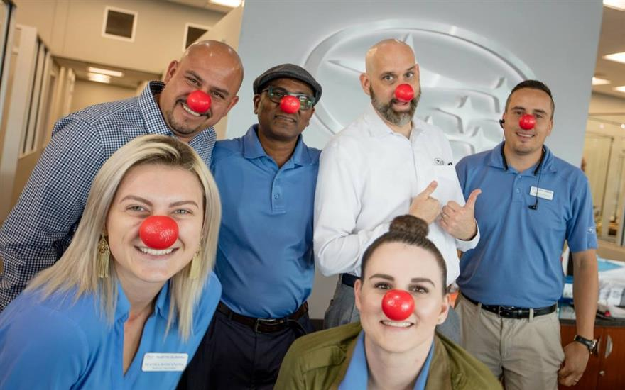Red Nose Day and Central Texas Food Bank donation