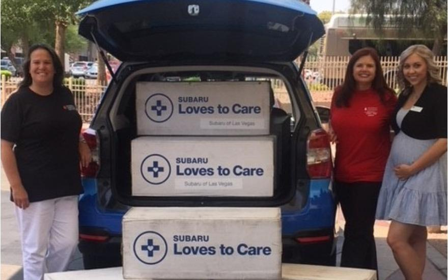 Subaru of Las Vegas Loves to Care with LLS