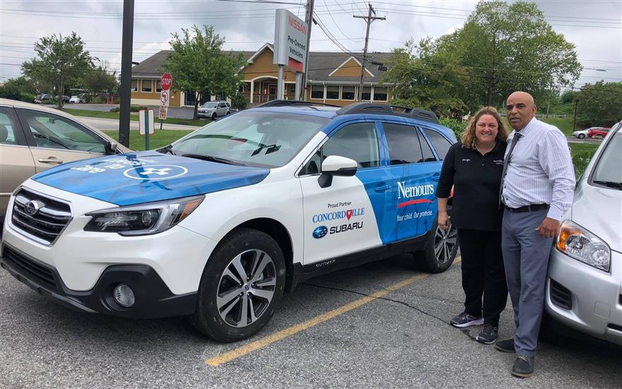 Vehicle Donation to Nemours for Community Outreach