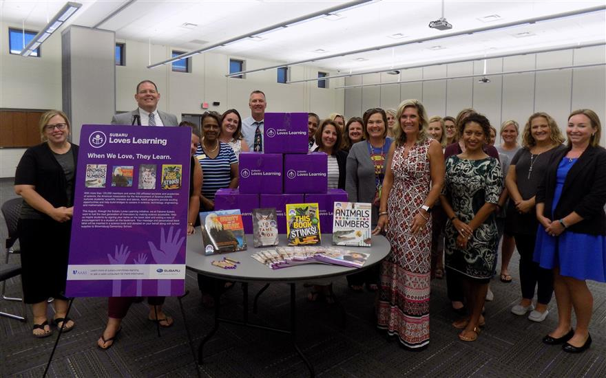 Subaru Loves Learning Books for Brownsburg Schools