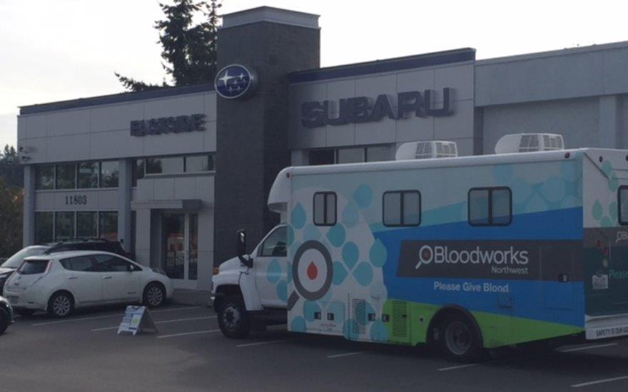 Eastside Subaru Bloodworks Blood Drive