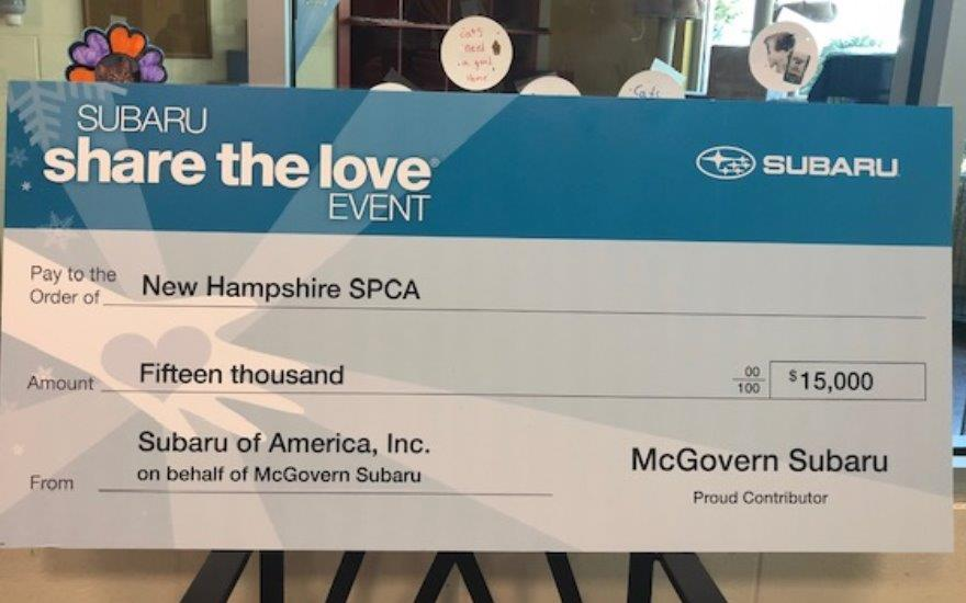 McGovern Helps the New Hampshire SPCA