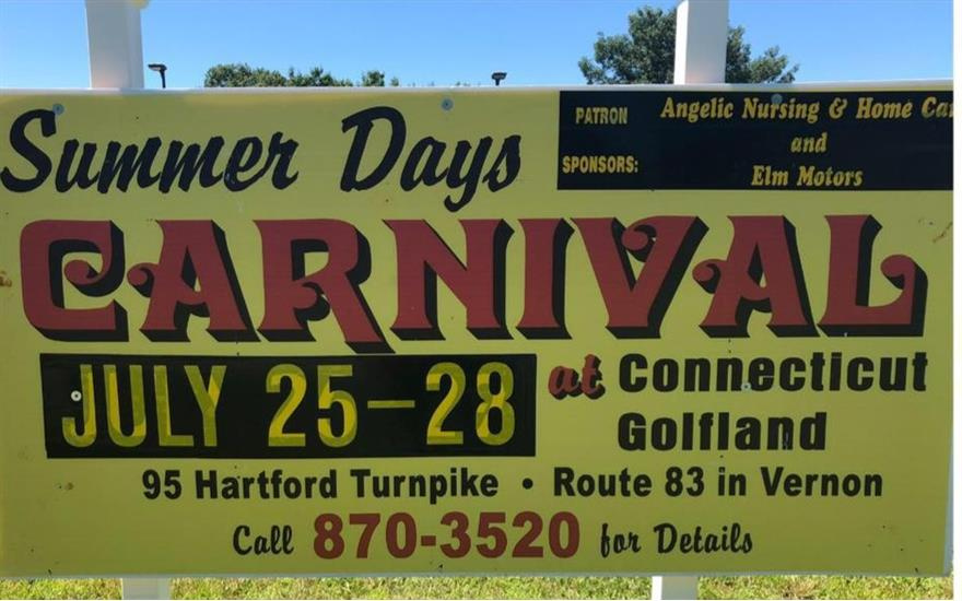 Summer Days Carnival at Connecticut Golfland