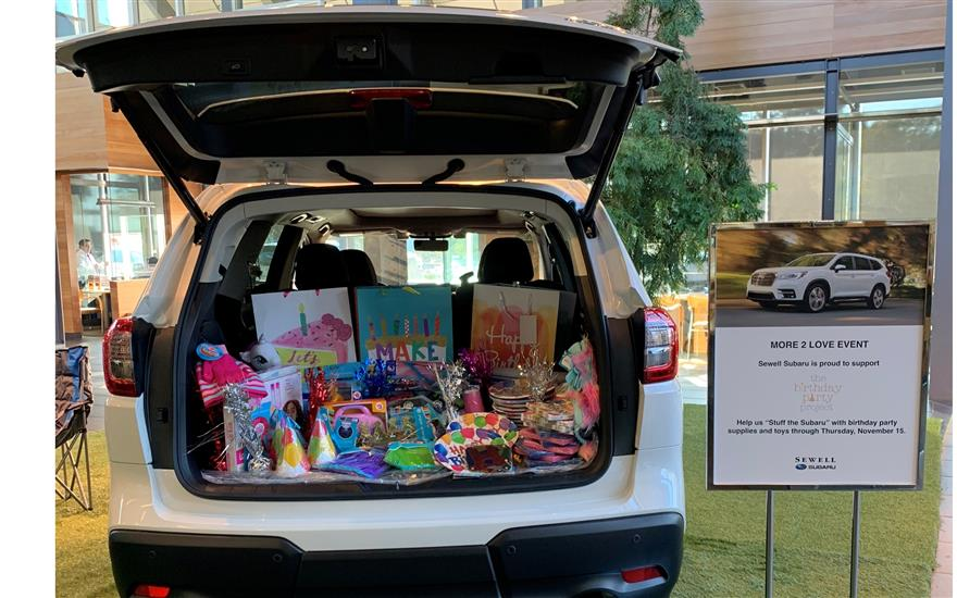 Sewell Subaru Supports The Birthday Party Project