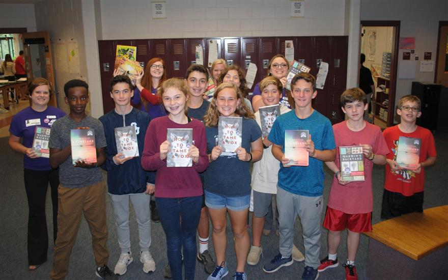 Donating Books to the Cooperative Middle School