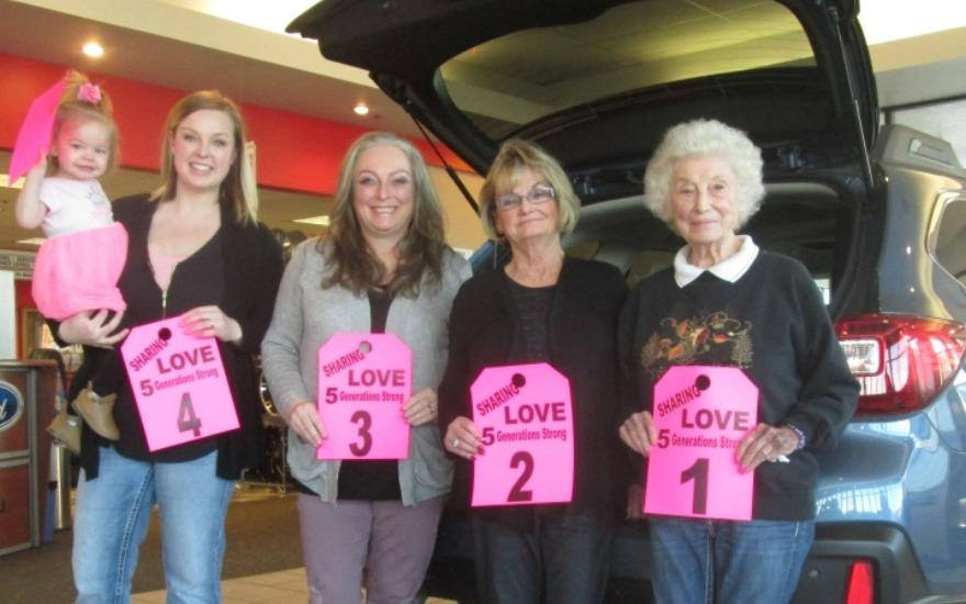 Five-Generations Share The Love