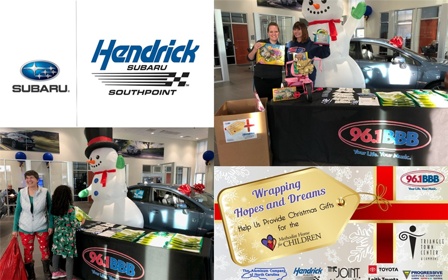 "Holiday Toy Drive with 96.1 BBB's ""Wrapping Hopes"