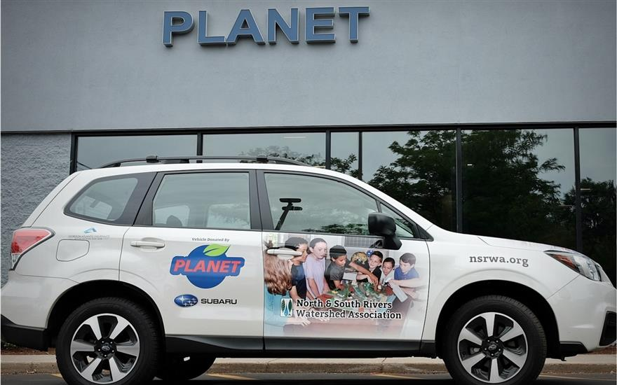 Planet Subaru donates Forester to the NSRWA