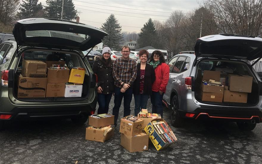 Thomas Subaru Bedford Supports Book Sale