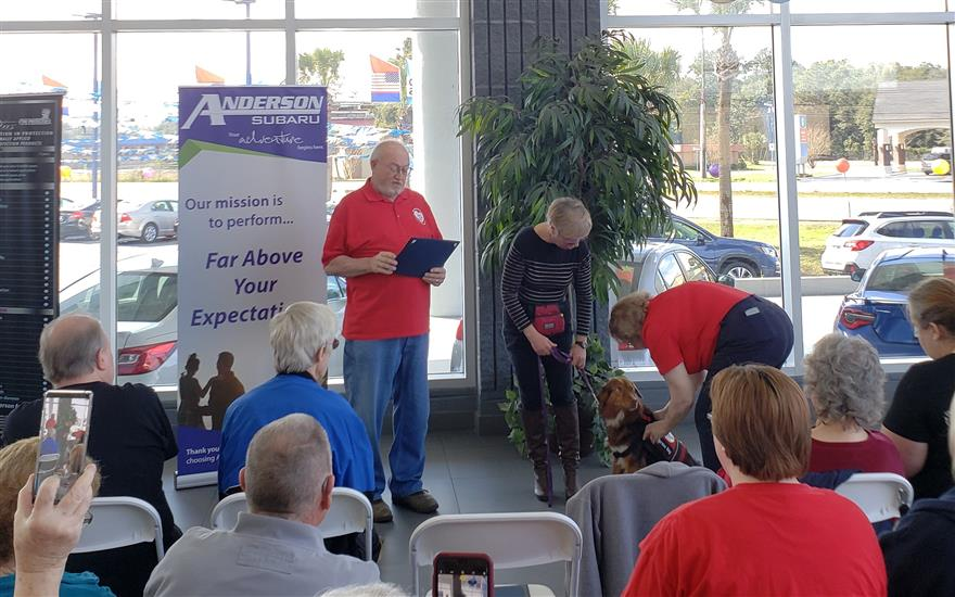 Anderson Subaru Hosts Service Dog Graduation