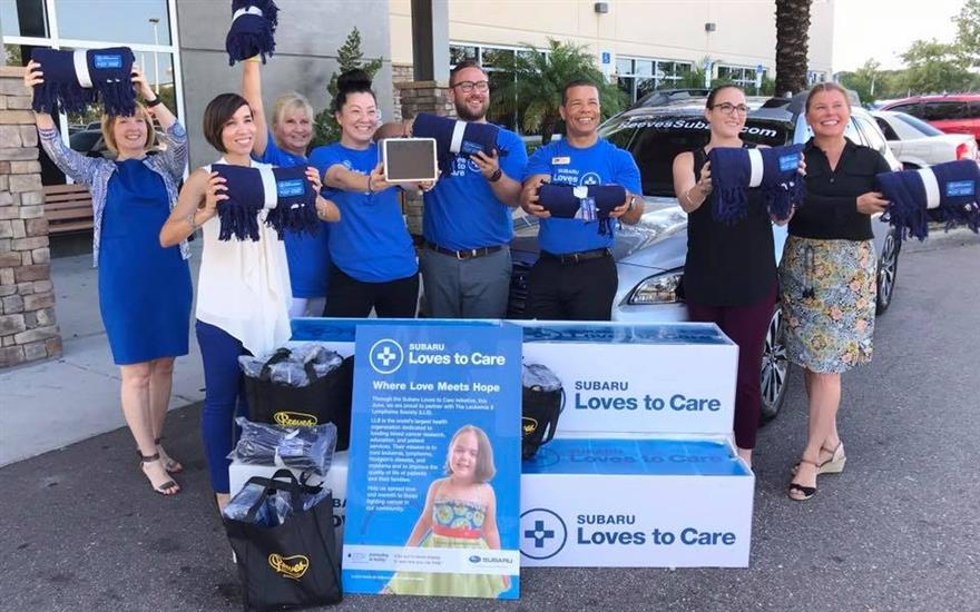 Blanket Delivery at Florida Cancer Specialists