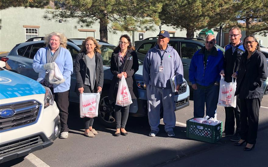 Flagstaff Subaru staff joined in on MOW Ride Along