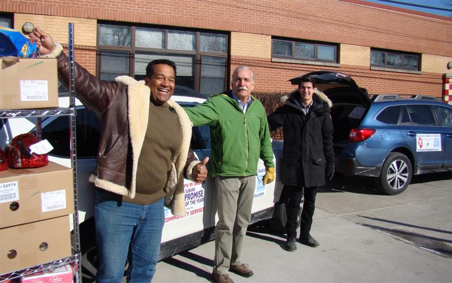 Frigid Day Food Donations to Niles Food Pantry