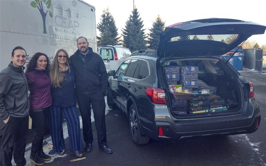 Morrie's Subaru Fills the Food Shelf