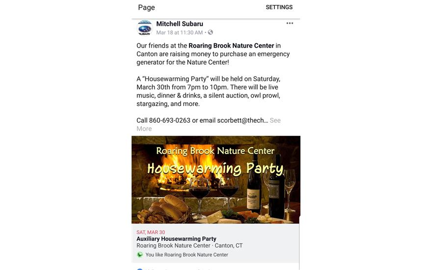Partner with Roaring Brook Nature Center