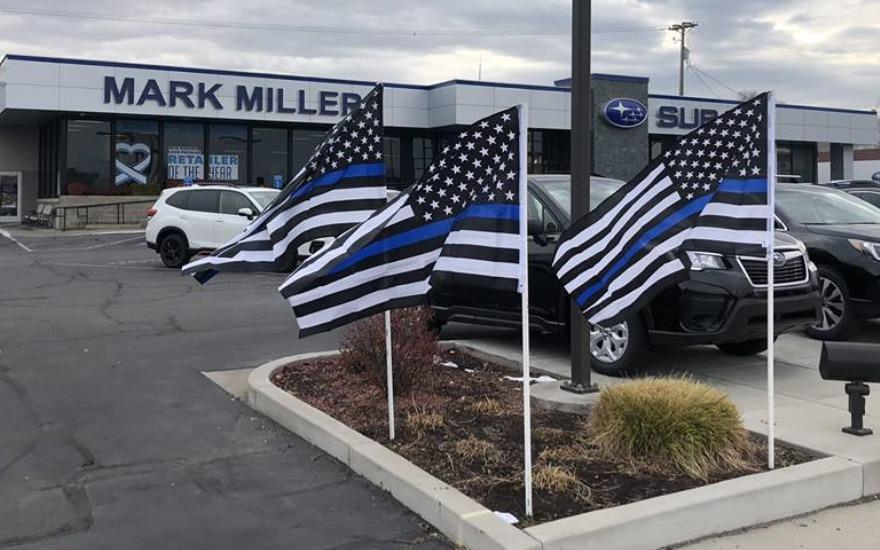 Mark Miller Subaru #BacksTheBlue
