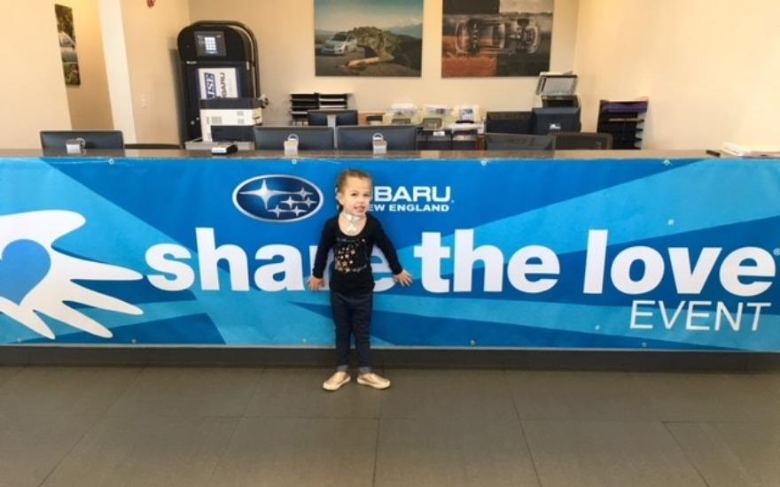 Paige and Harper from Hasbro Visit Balise Subaru!