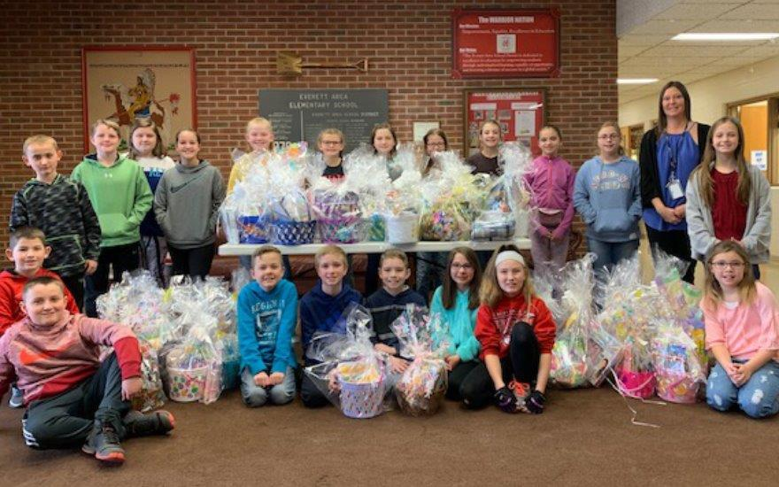 Everett Students Collect for Easter for Eli