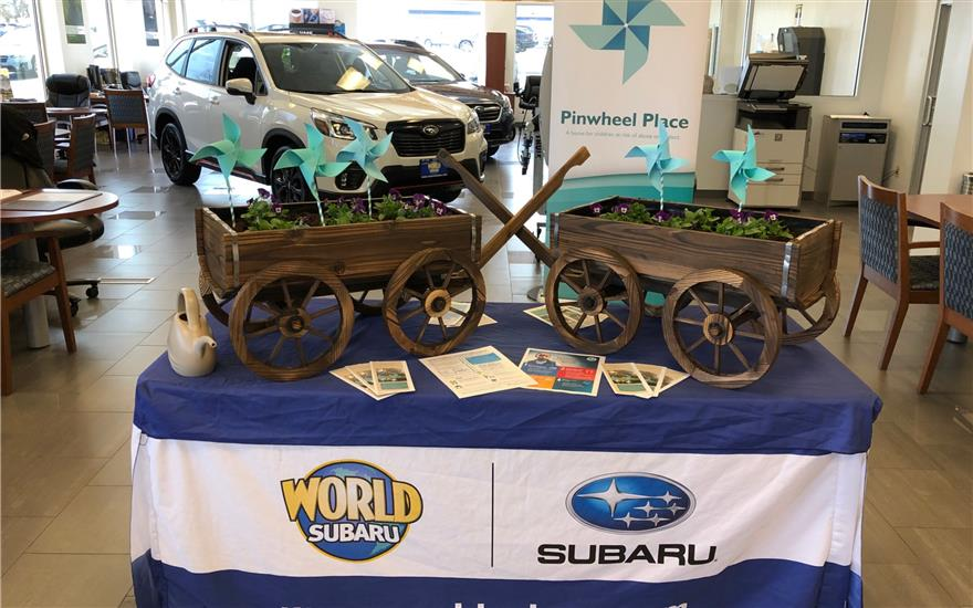 World Subaru Supports Pinwheel Place