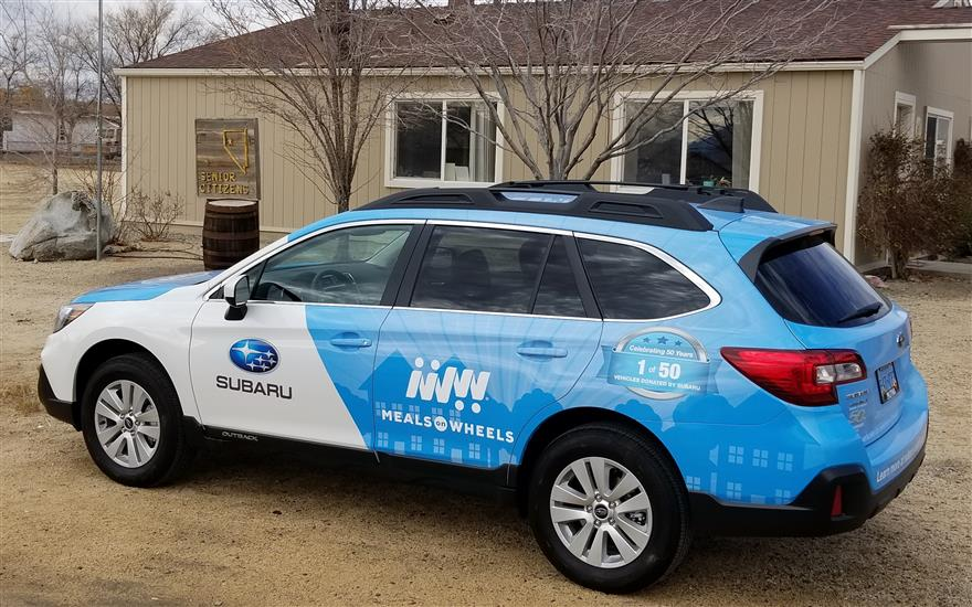Subaru Outback Takes Long Drive to Gerlach